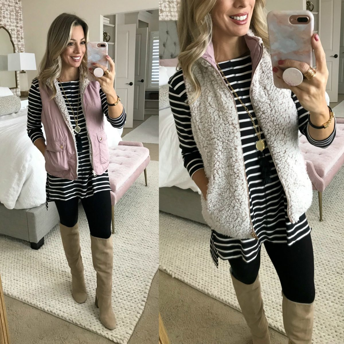 tunic with leggings vest and boots