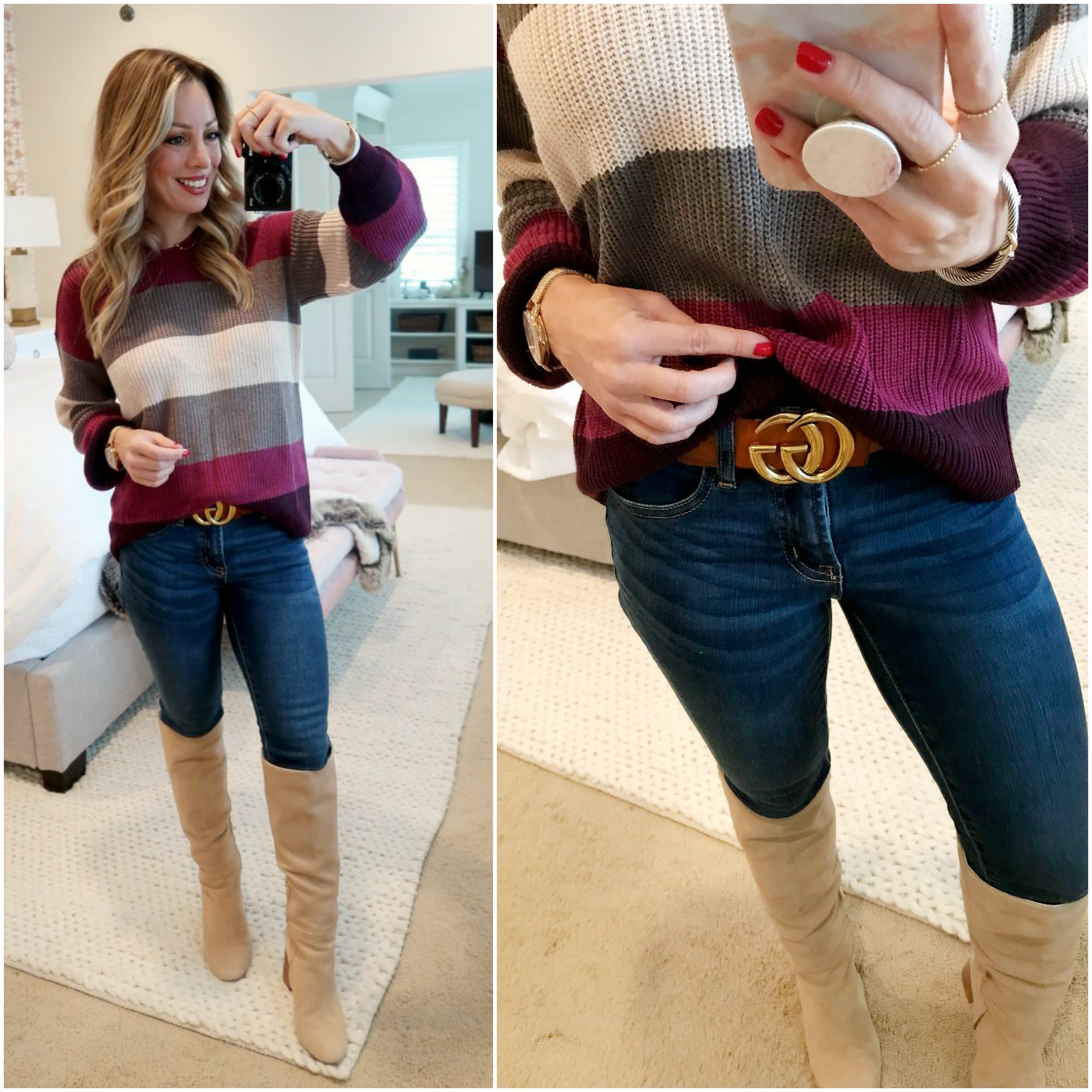 Amazon Fashion Haul CG Belt with sweater and boots