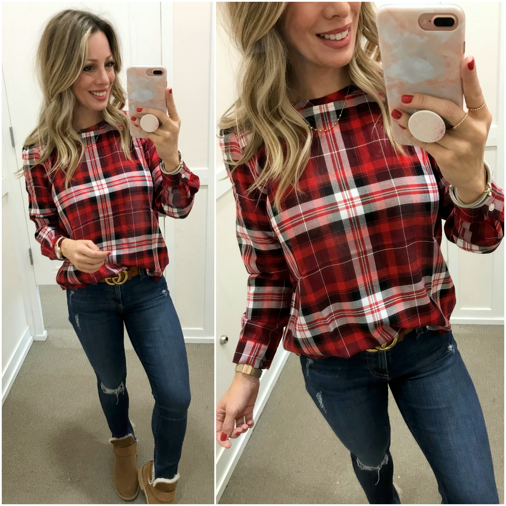 Black Friday Sale 2018 Loft plaid top