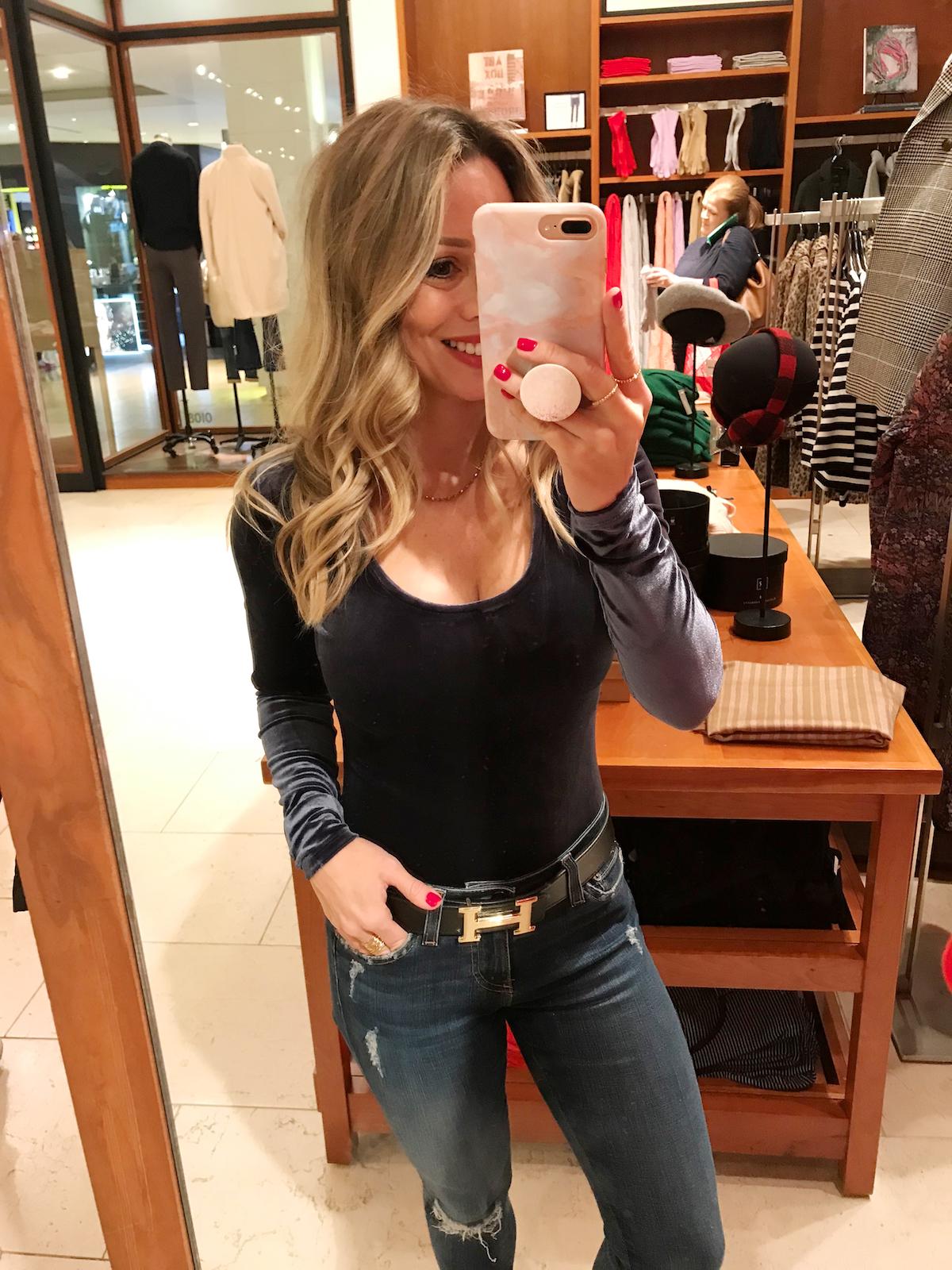 Black Friday Sales 2018 JCREW velvet bodysuit