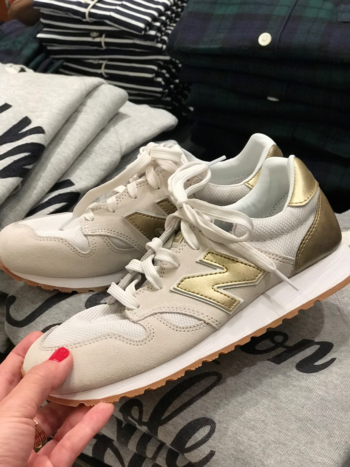 Black Friday Sales 2018 JCrew New Balance Gold Sneakers
