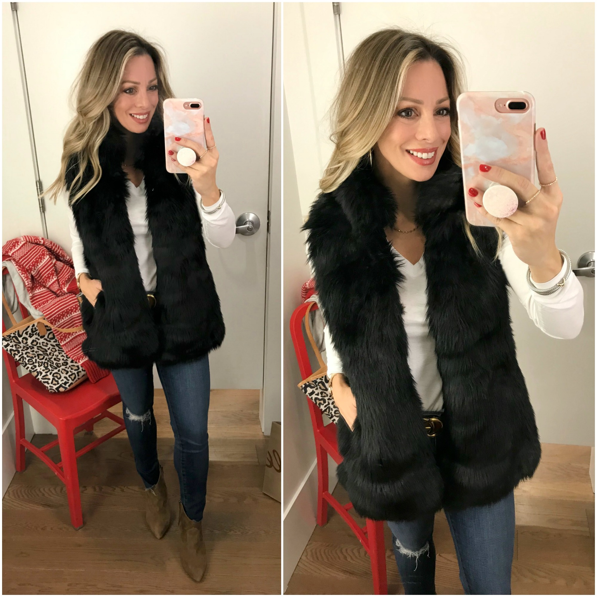 Black Friday Sales GAP faux fur vest.1
