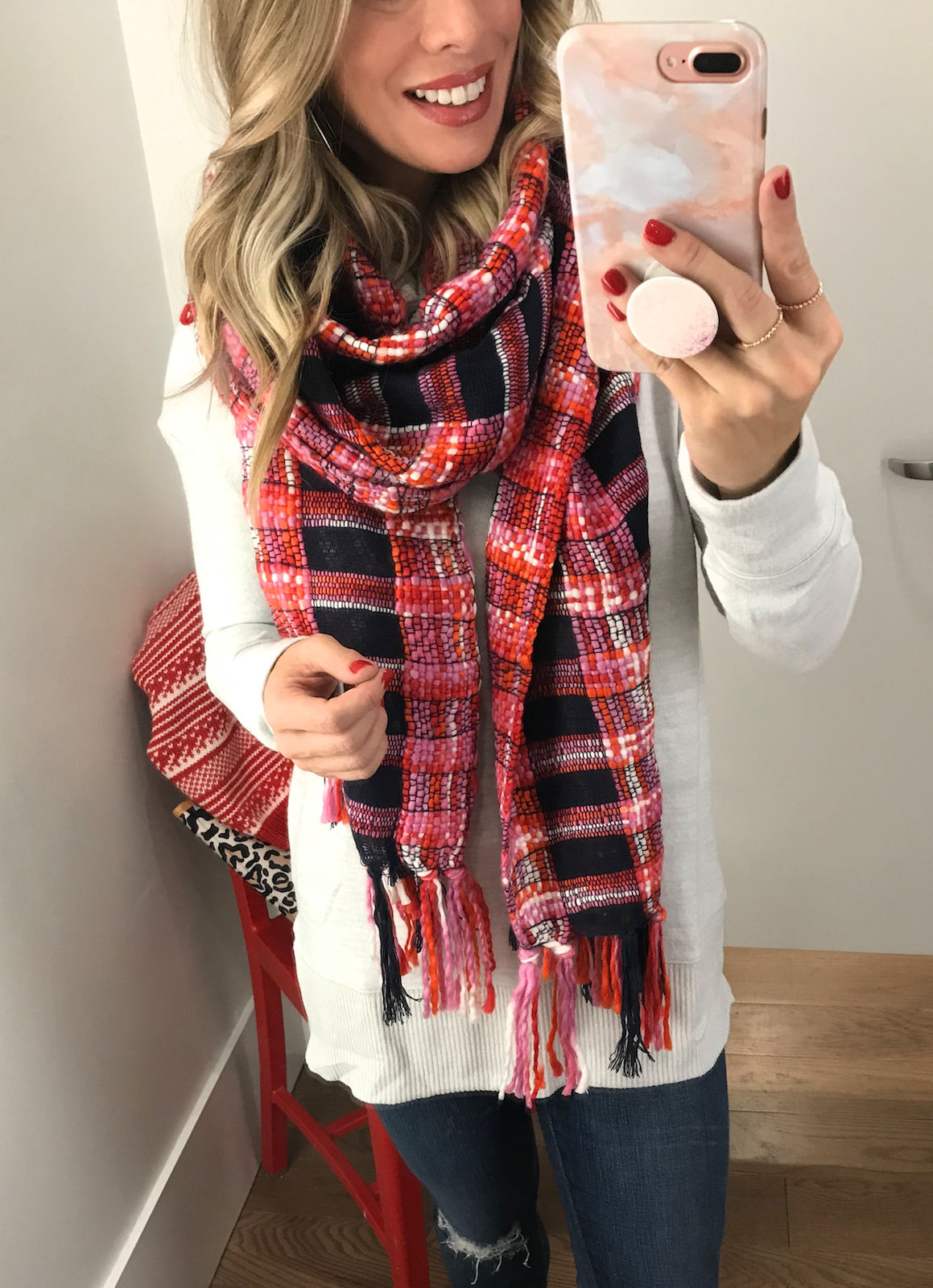 Black Friday Sales GAP fringe scarf