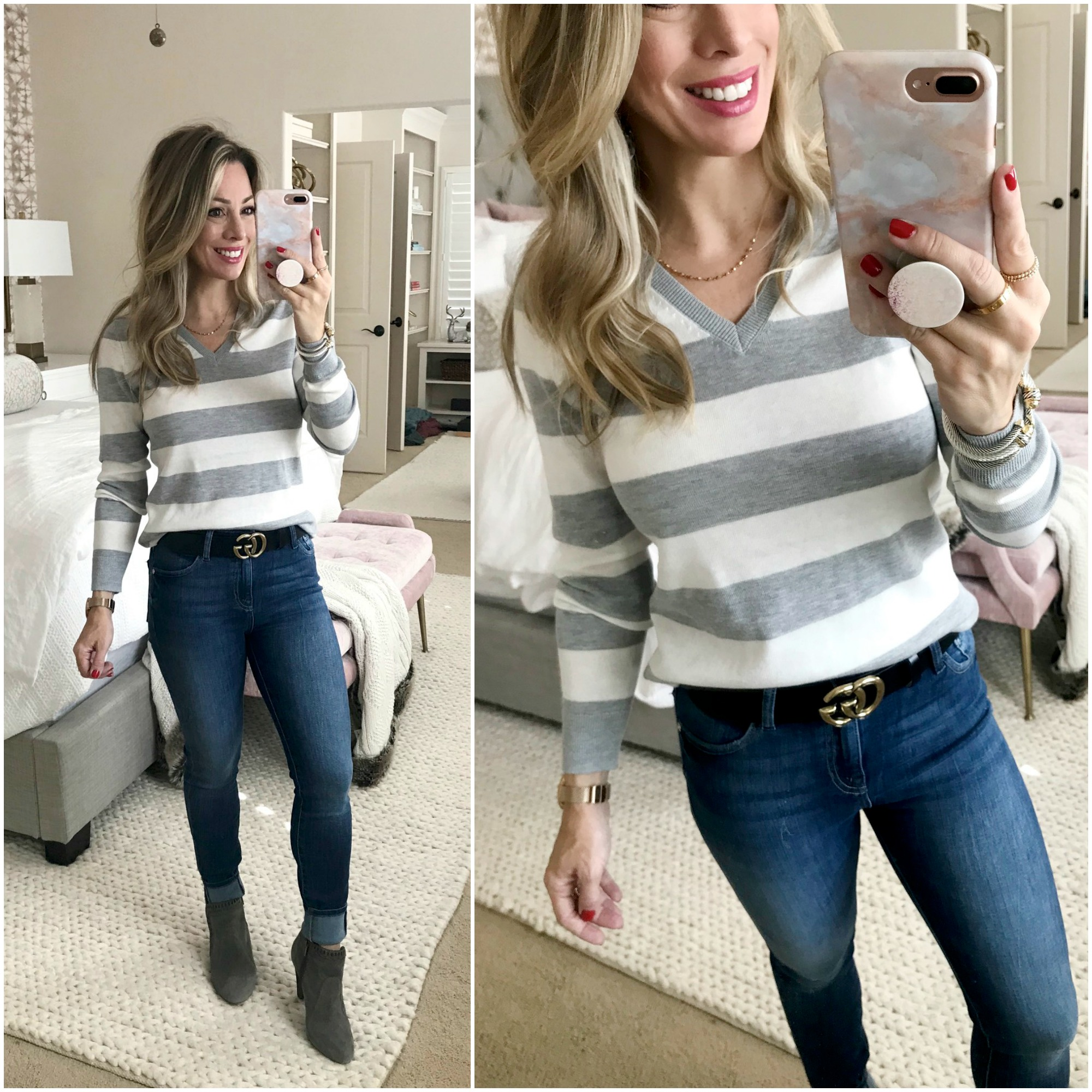 Cyber Monday Amazon Fashion Haul striped sweater women