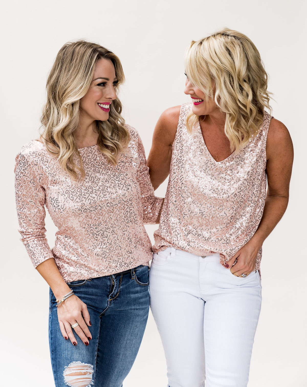Gibson x Glam sequin top
