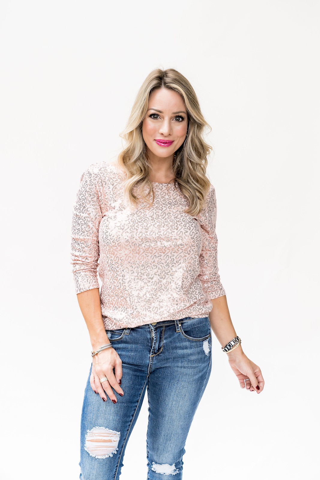 Gibson x Glam Megan Sequin Top