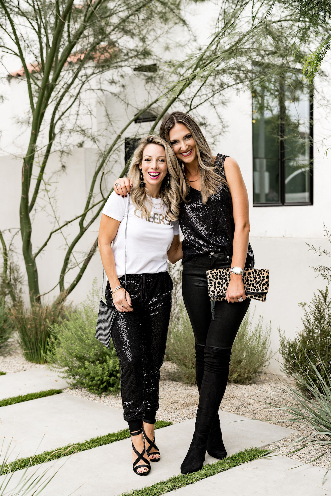 Gibson x Glam Sequin Joggers & Sequin Tank