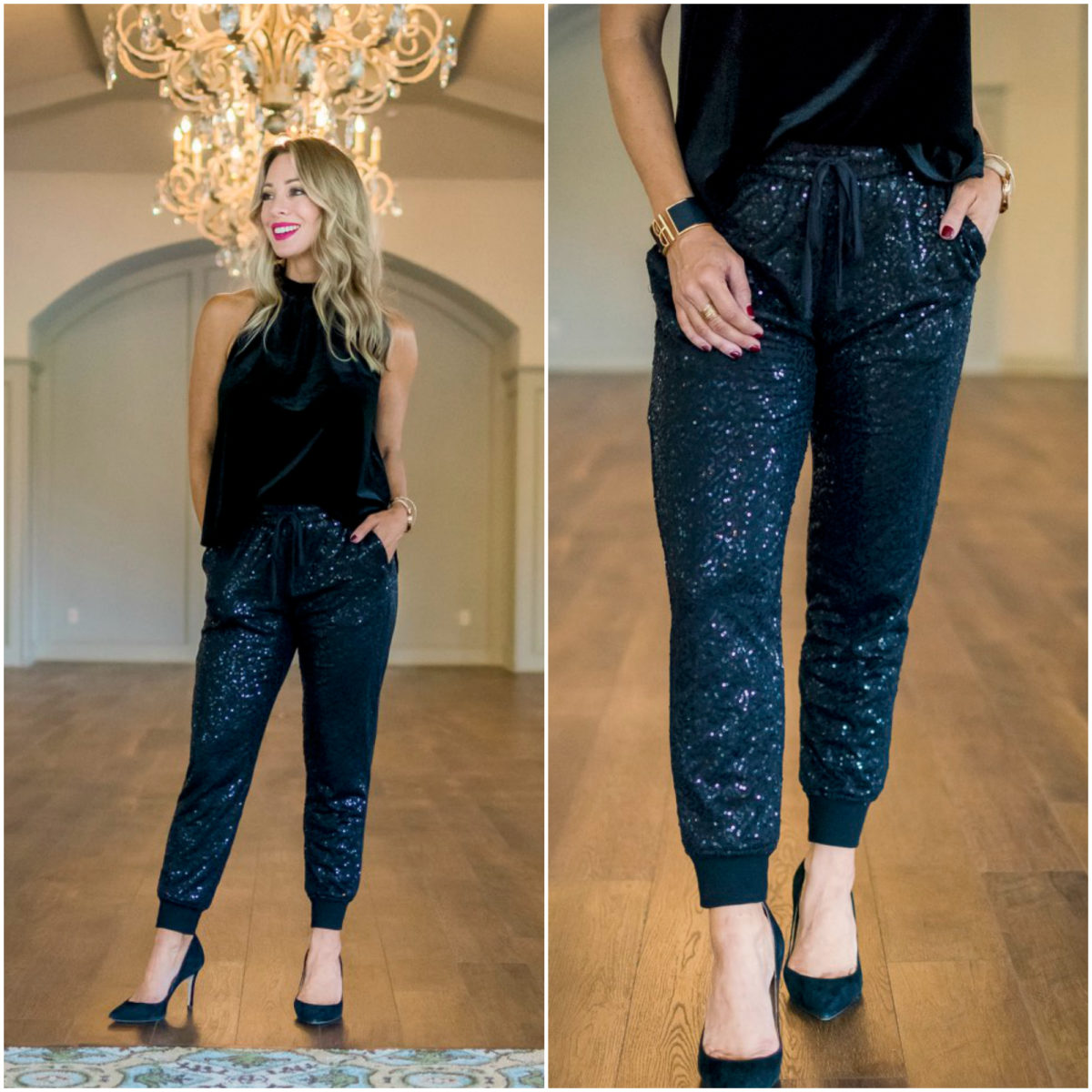 Gibson x Glam Sequin Joggers.1