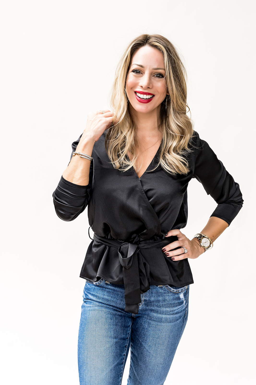 Gibson x Glam satin wrap top (1)
