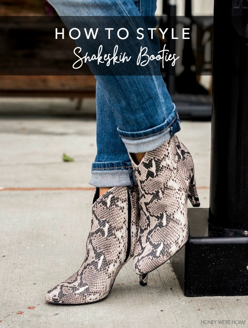 How to Style Snakeskin Booties