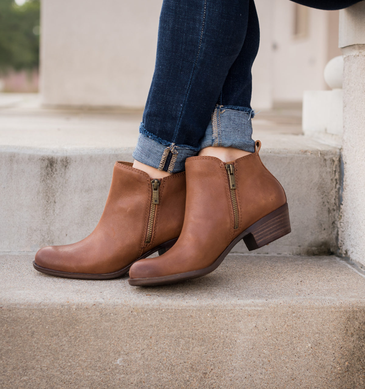 Lucky Brand brown booties