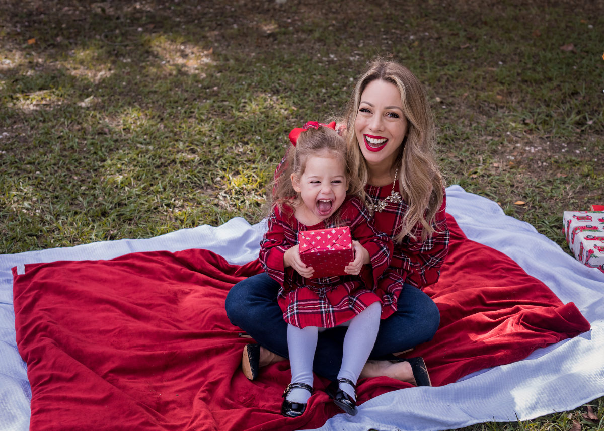 Mother Daughter Christmas Outfits red plaid.5
