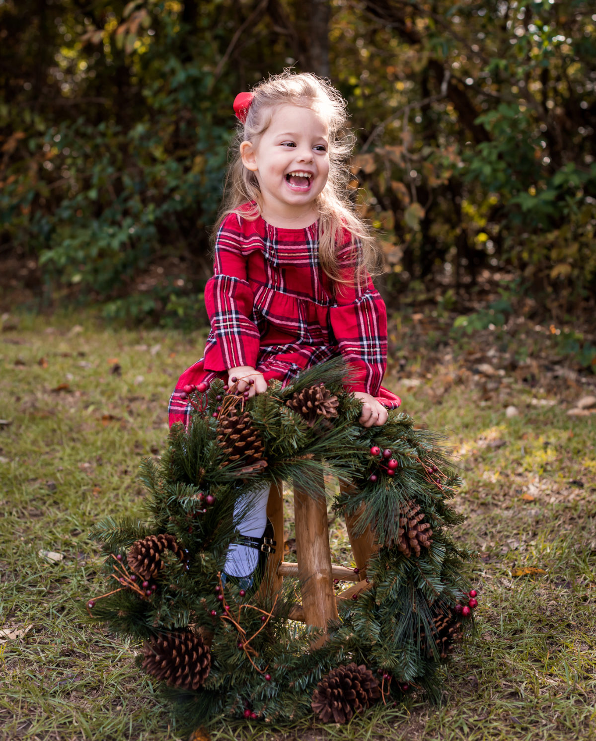 Mother Daughter Christmas outfits red plaid (1)