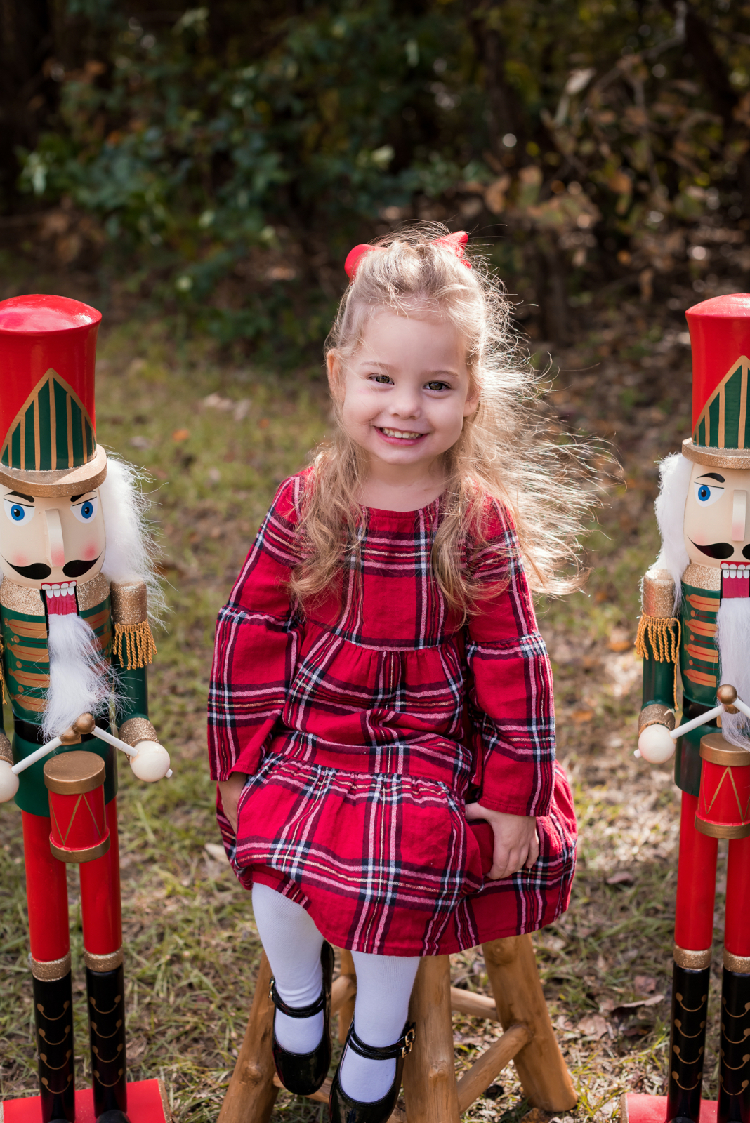 Mother Daughter Christmas outfits red plaid (2)