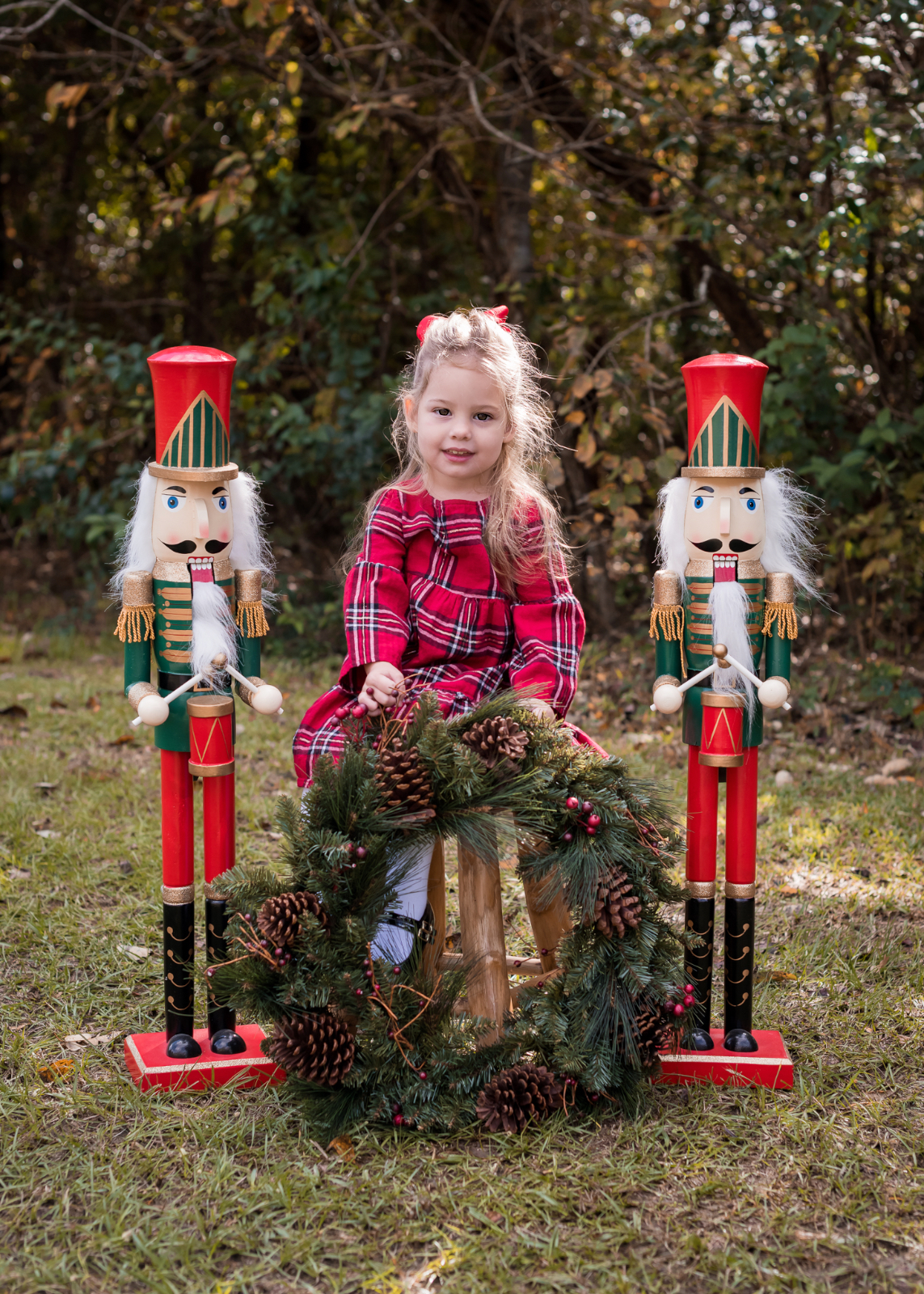 Mother Daughter Christmas outfits red plaid (3)
