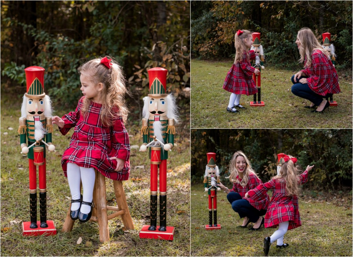 Mother Daughter plaid Christmas outfits