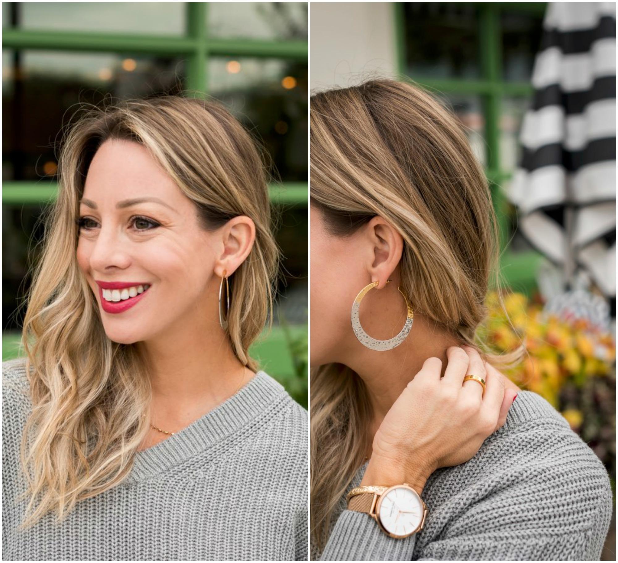 silver gold hoop earrings