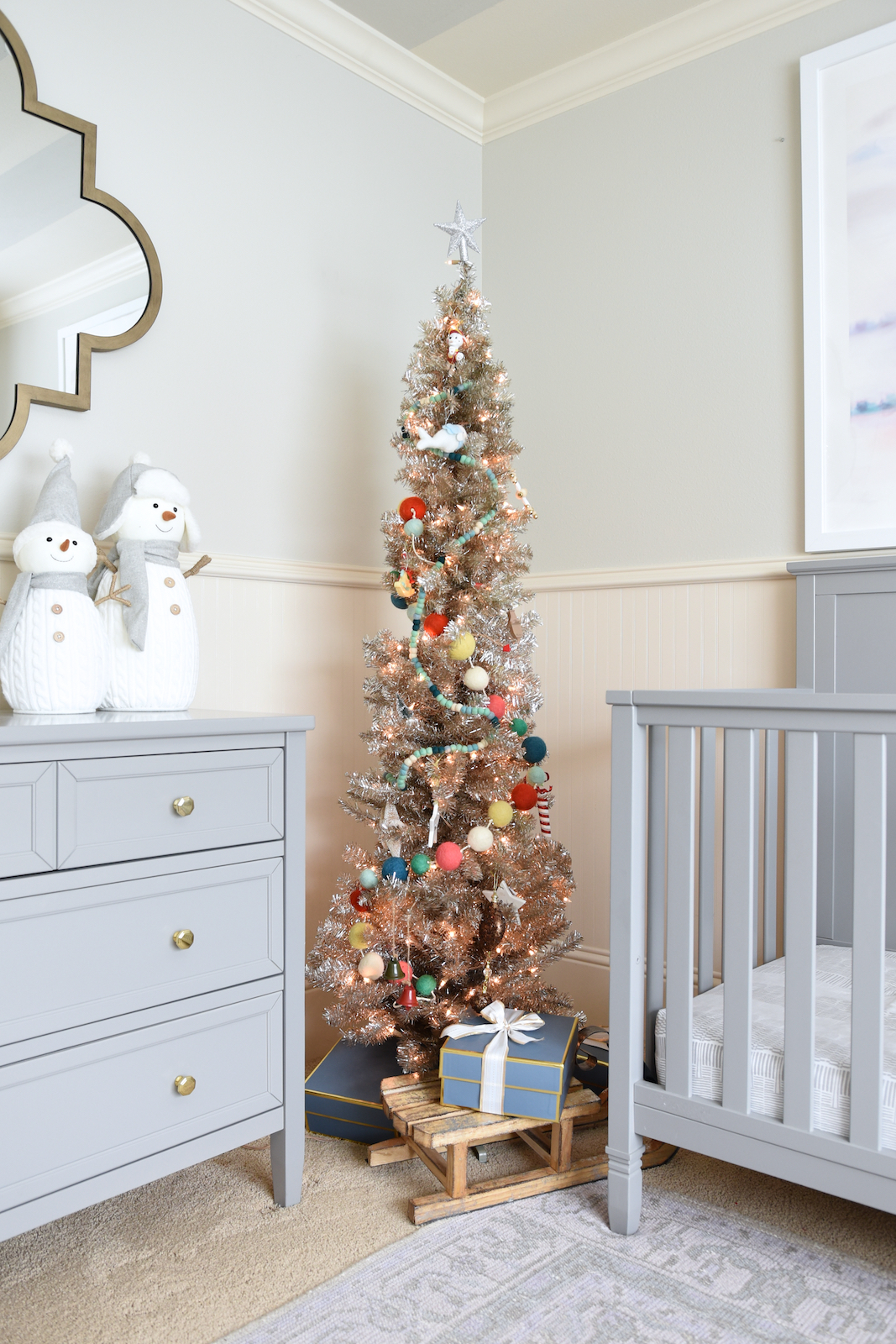 Christmas Decor -nursery rose gold Christmas tree