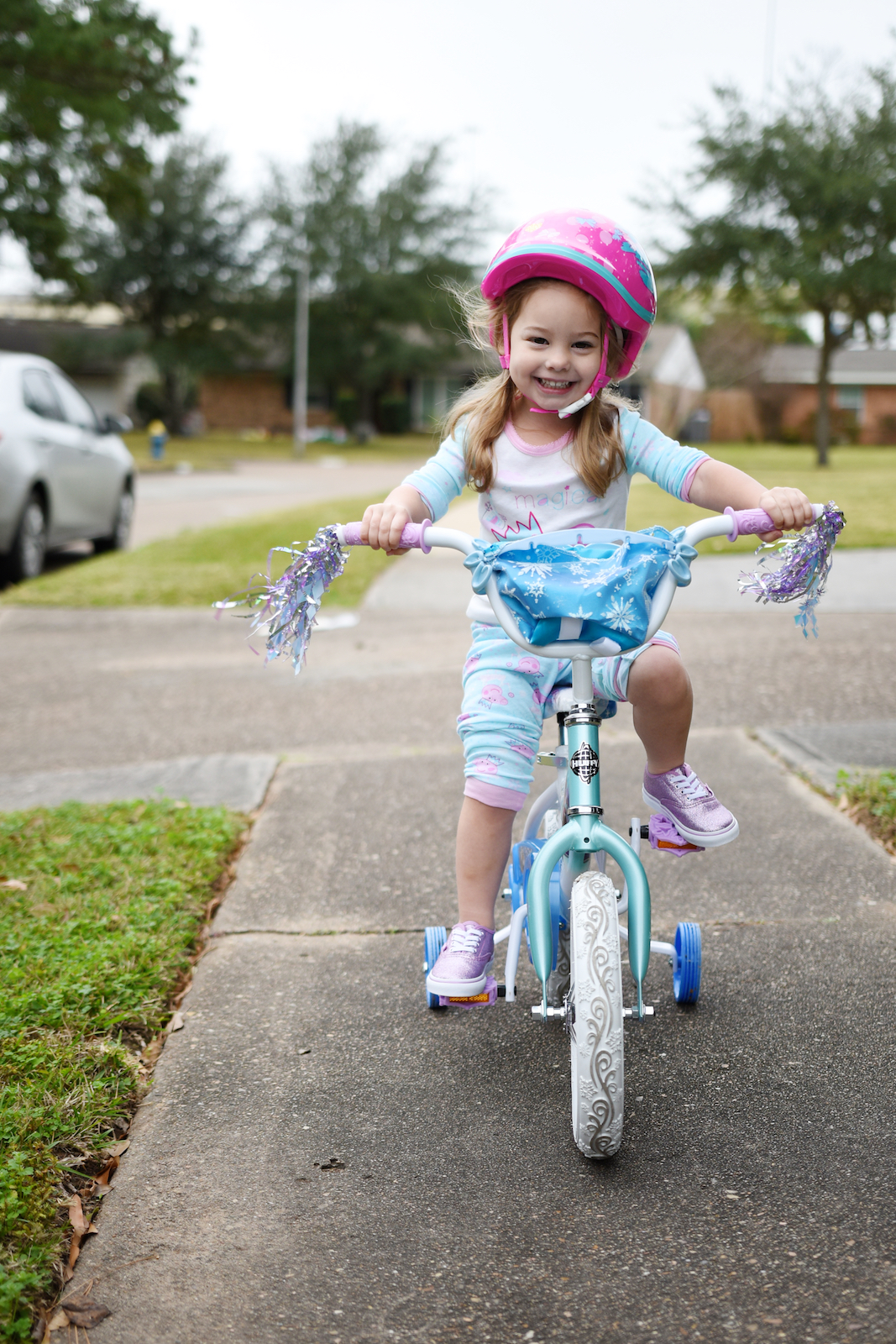 Girls Frozen Bike with training wheels