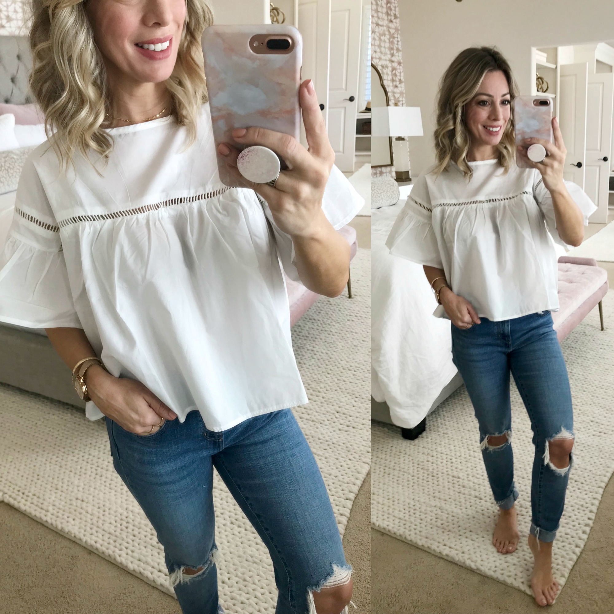 Amazon Fashion Haul - White Crop Blouse