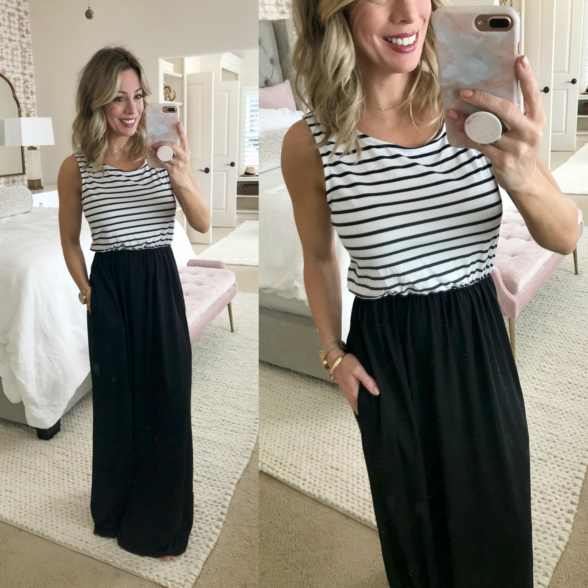 Amazon Fashion Haul - striped top maxi dress