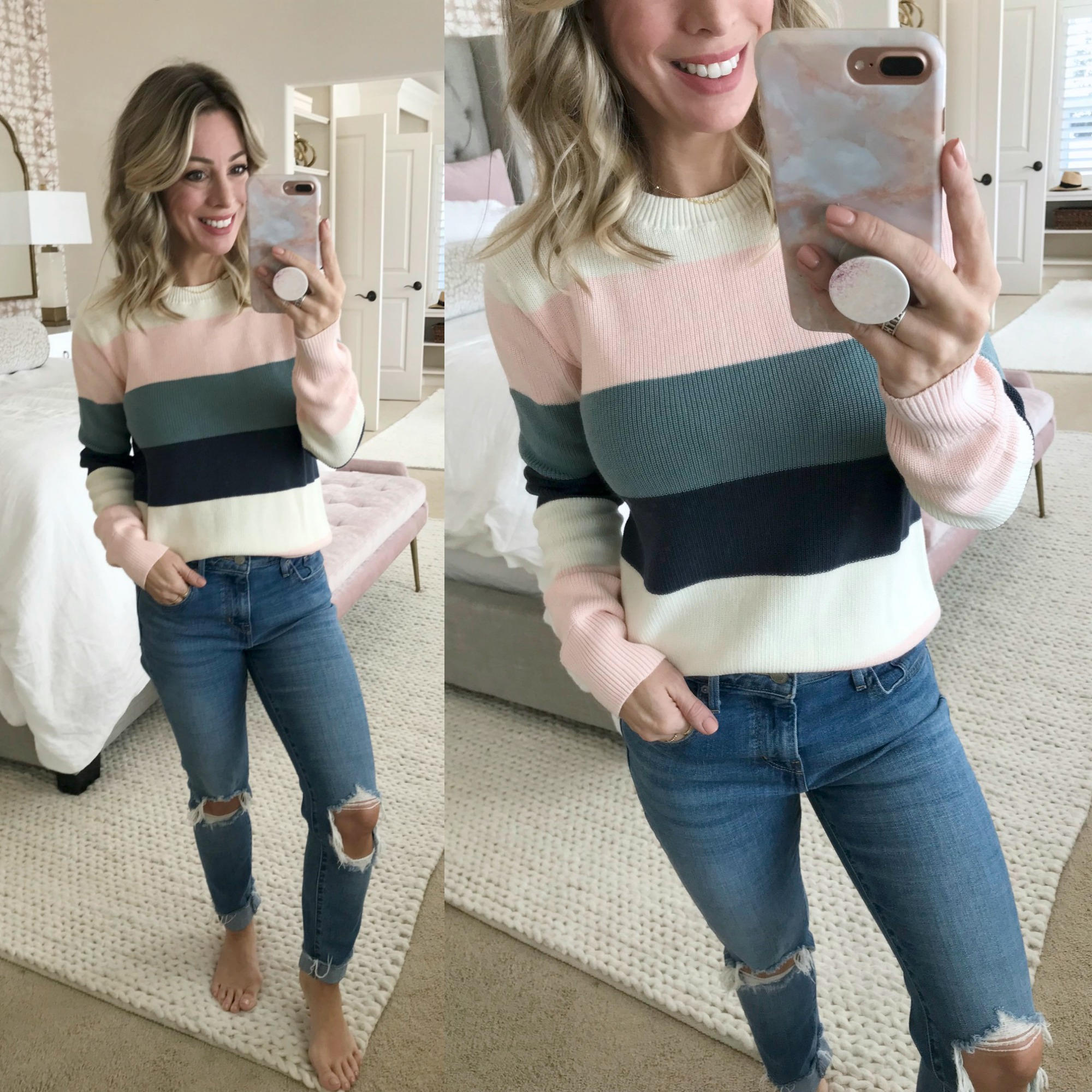 Amazon Fashion Haul - wide striped sweater