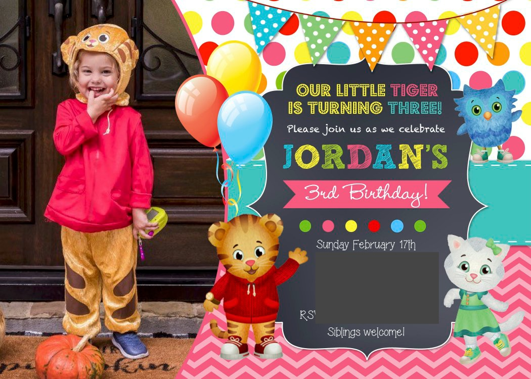 Daniel Tiger Birthday party invite
