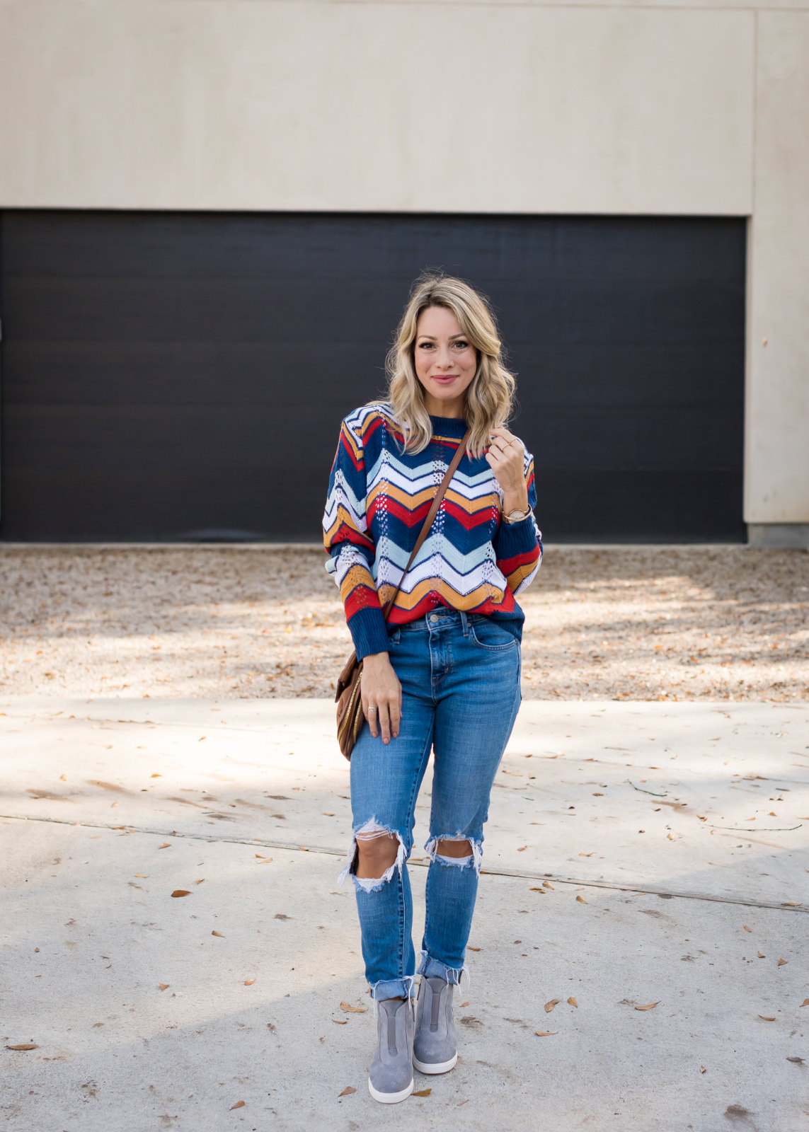 Winter outfit - chevron sweater
