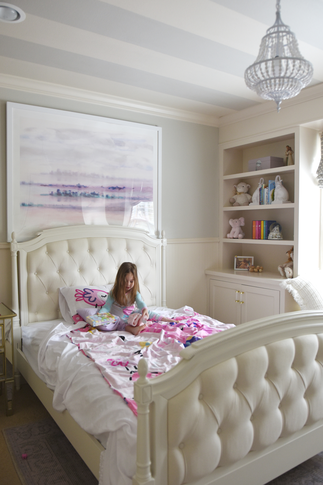 Pottery Barn Kids Tufted Upholstered Bed