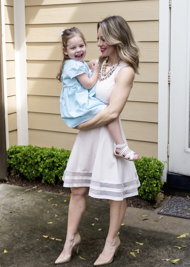 Mom and daughter Easter dresses