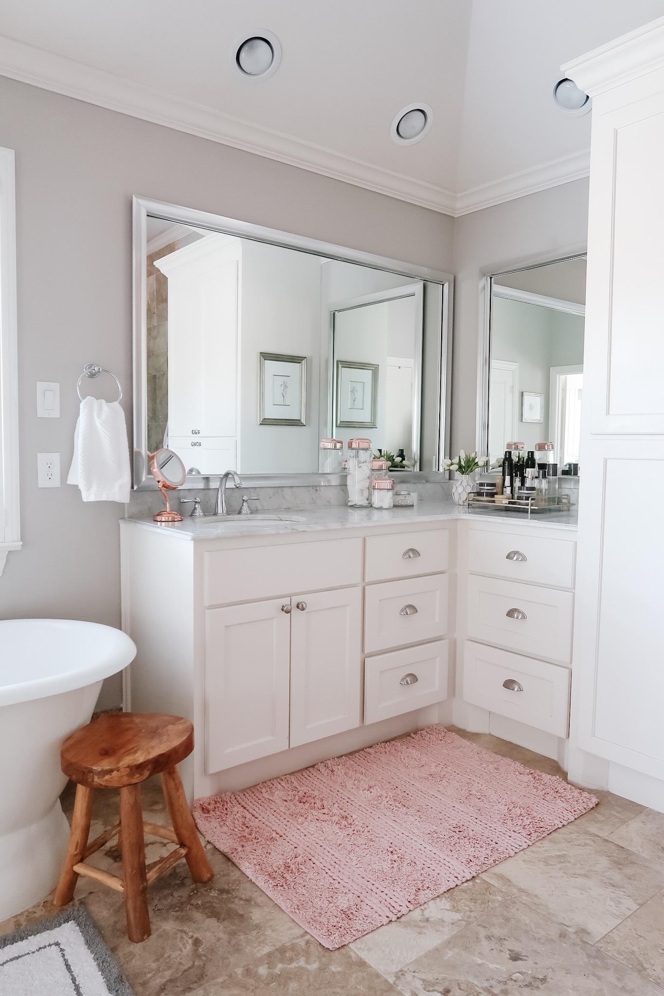 Mini Master Bathroom Update Honey We Re Home