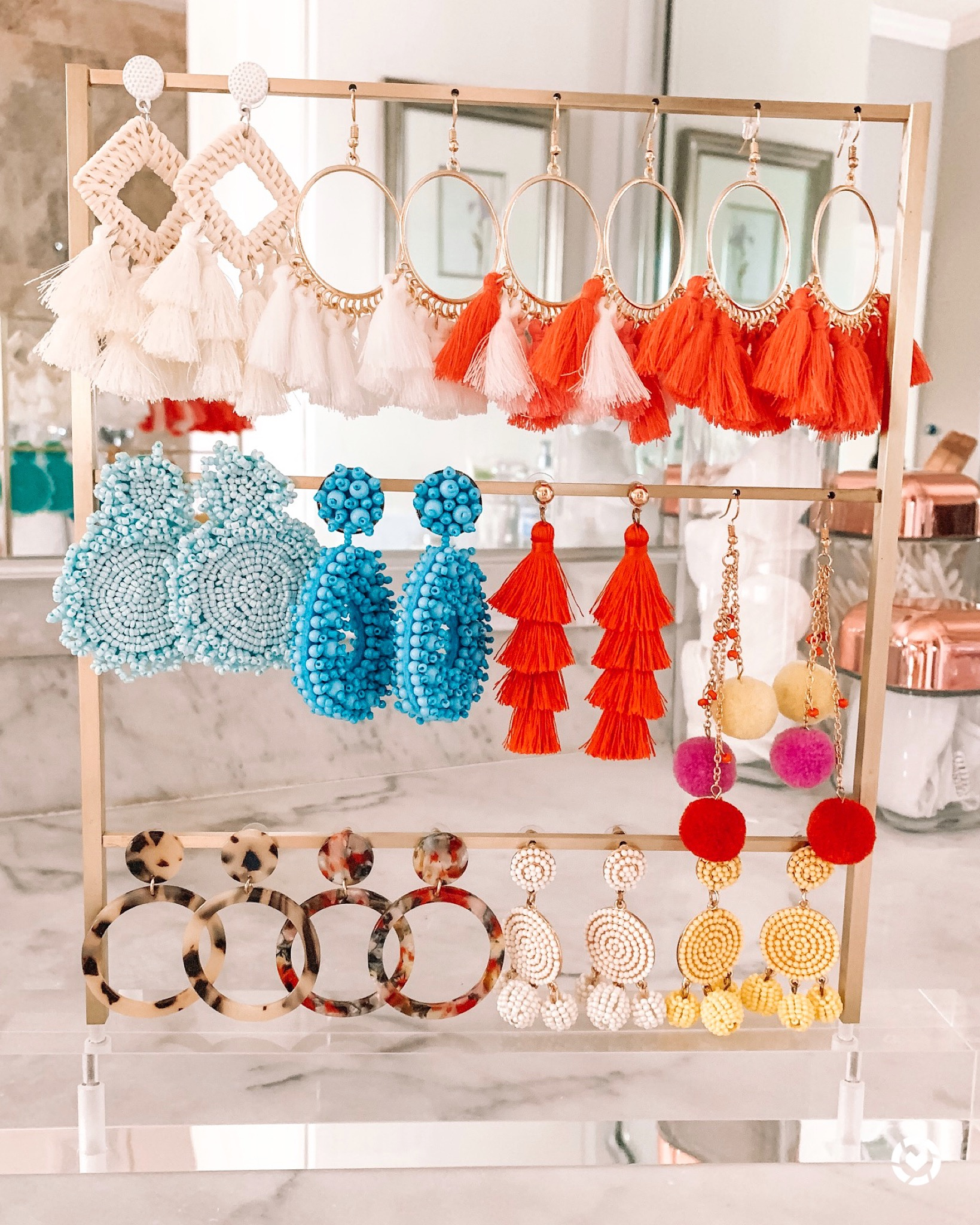 Kendra Scott Earring Ladder and statement earrings