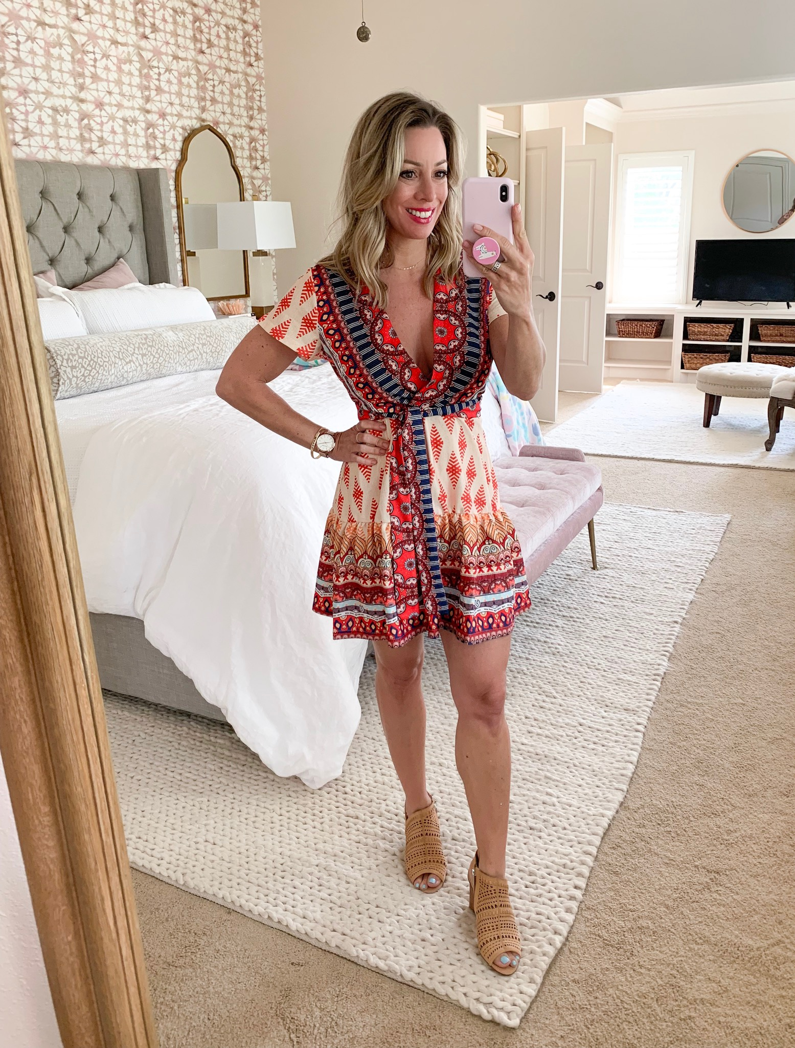 Amazon boho mini dress