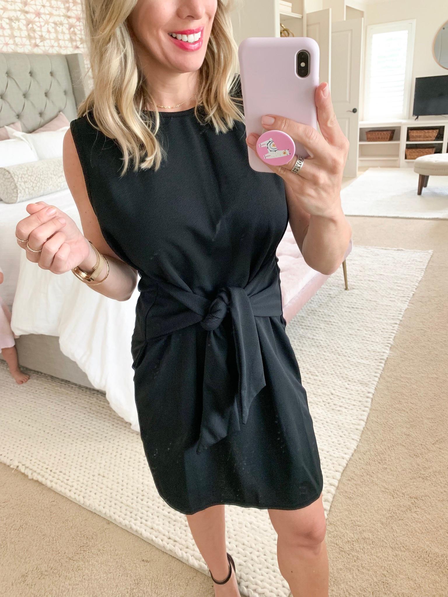 Amazon black tank tie dress