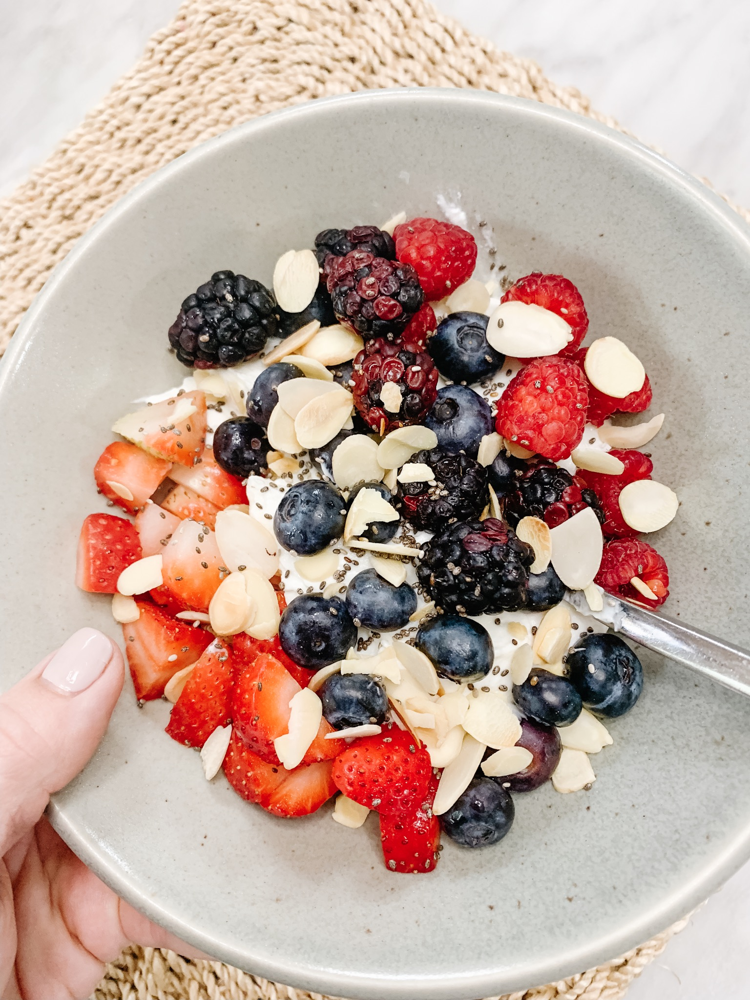 What I Eat in a Day - Yogurt and berries