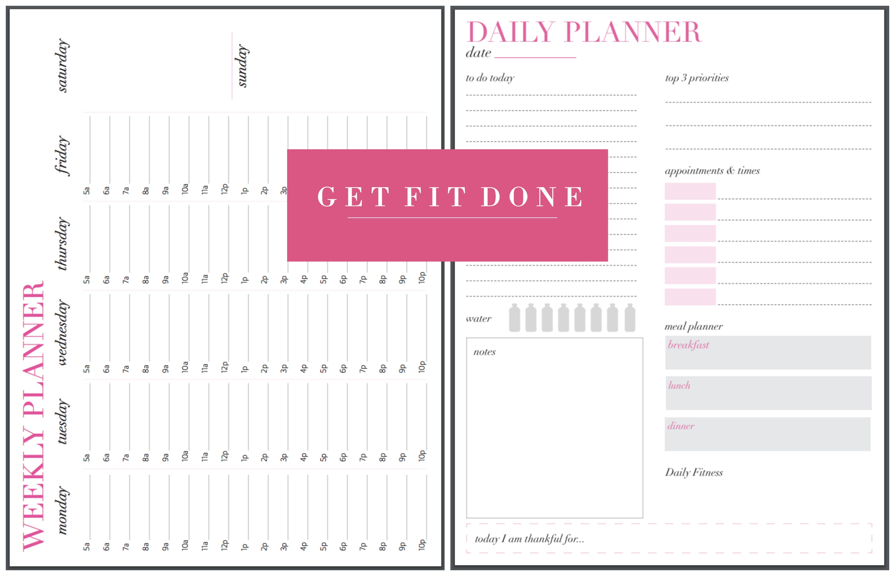 Get Fit Done Guide with Printables