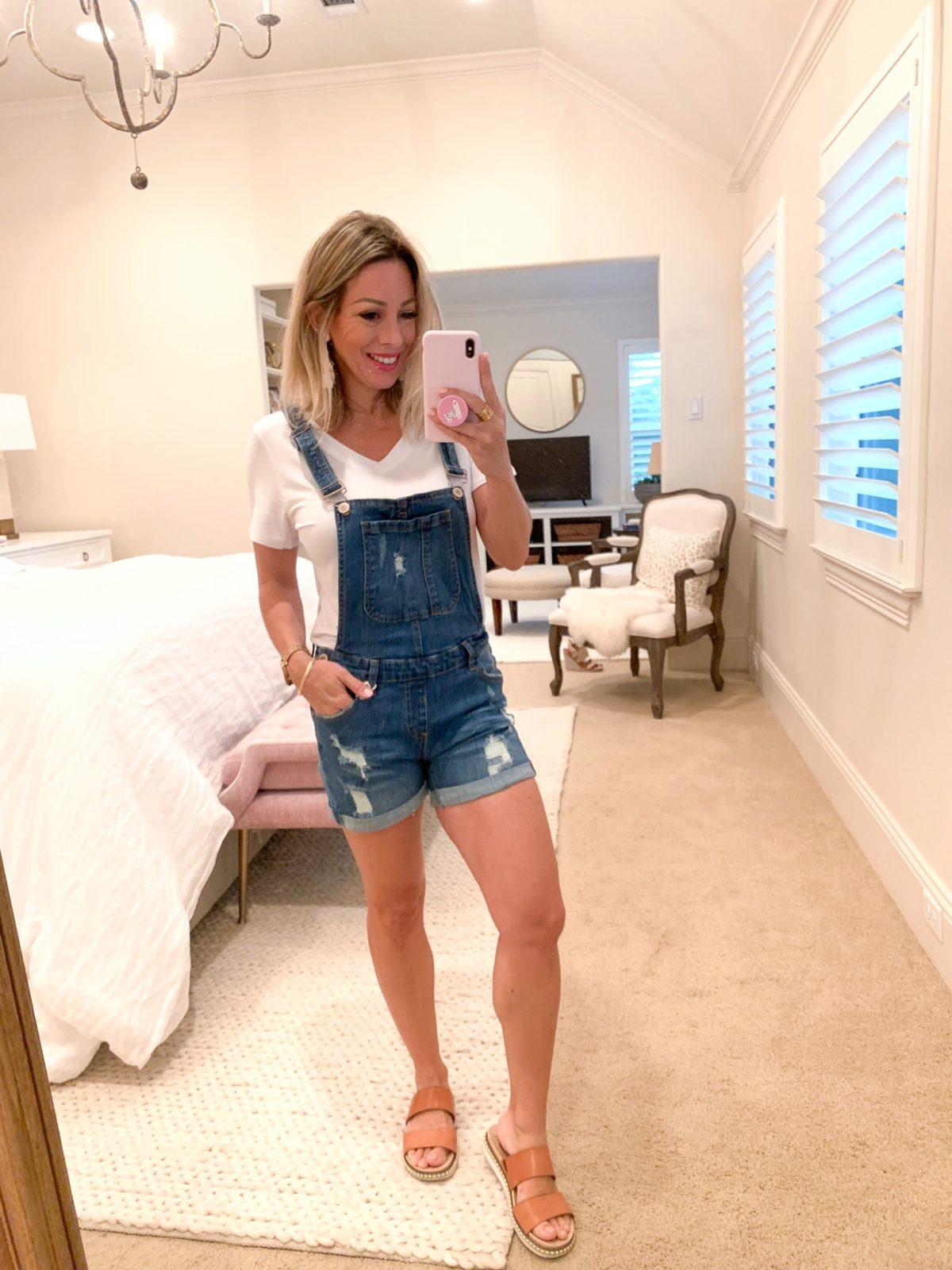 Amazon Fashion Haul White Shirt Under Denim Overalls
