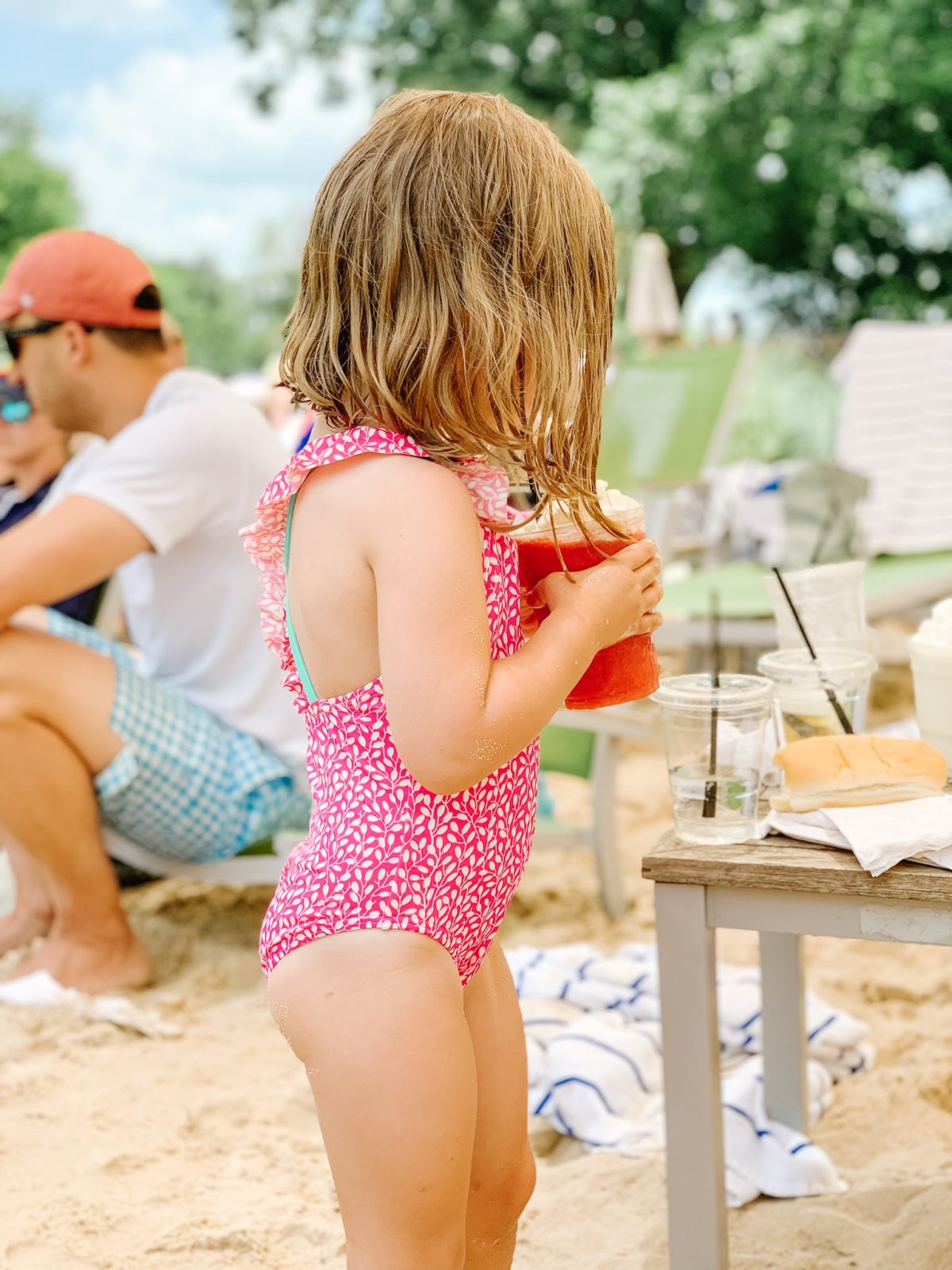 toddler pink swimsuit