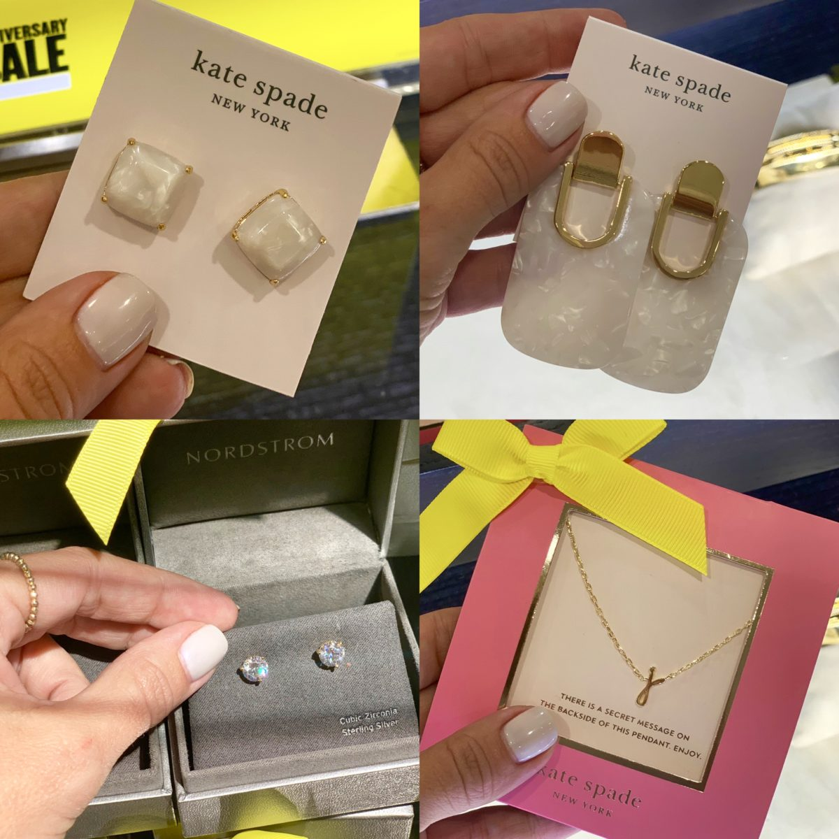 Nordstrom Anniversary Sale - Kate spade earrings and necklace with nordstrom earrings