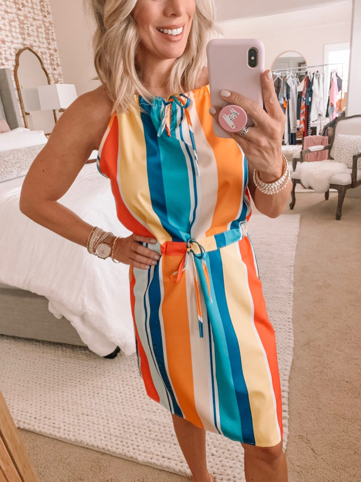 Amazon Fashion Haul - Rainbow stripe dress