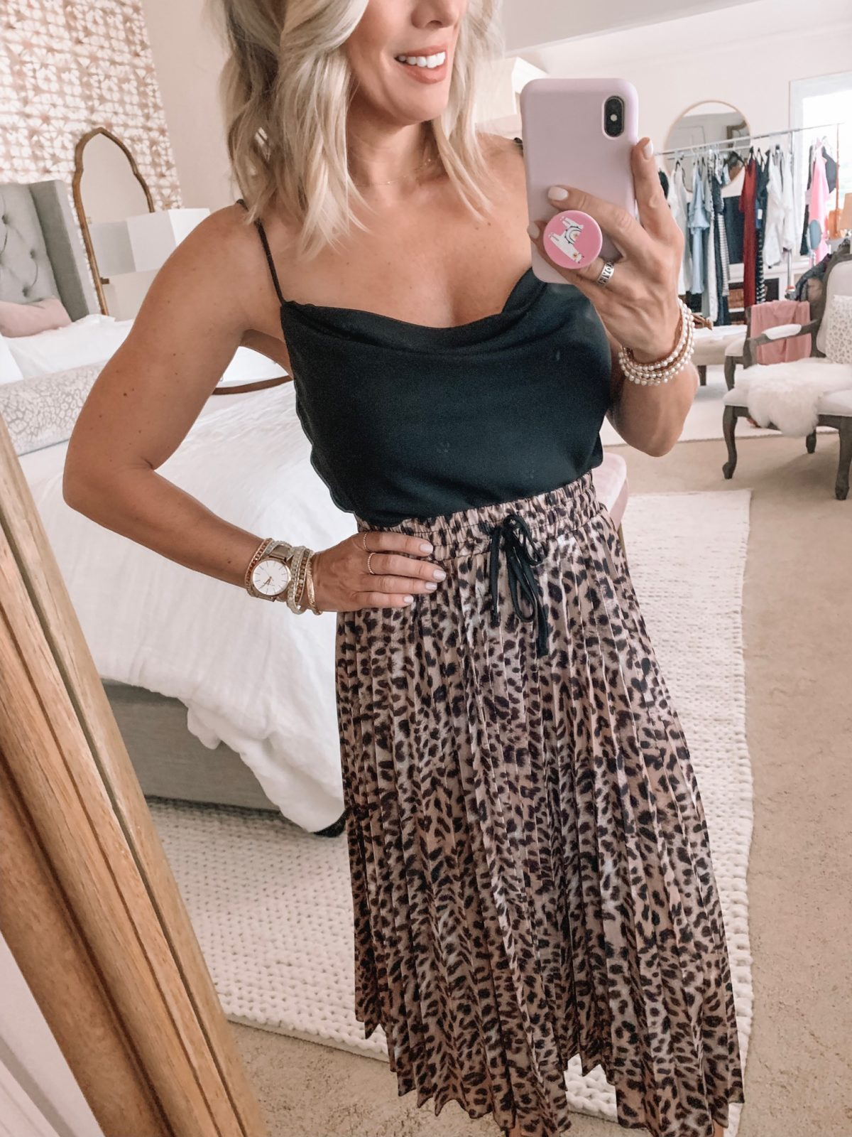 Amazon Fashion Haul - Cowl Neck Top with a Maxi Leopard Skirt