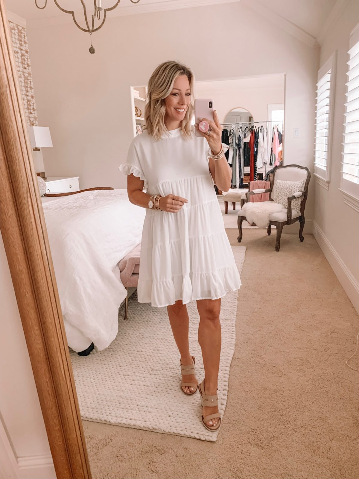 Amazon Fashion Haul - Short Sleeve White Dress