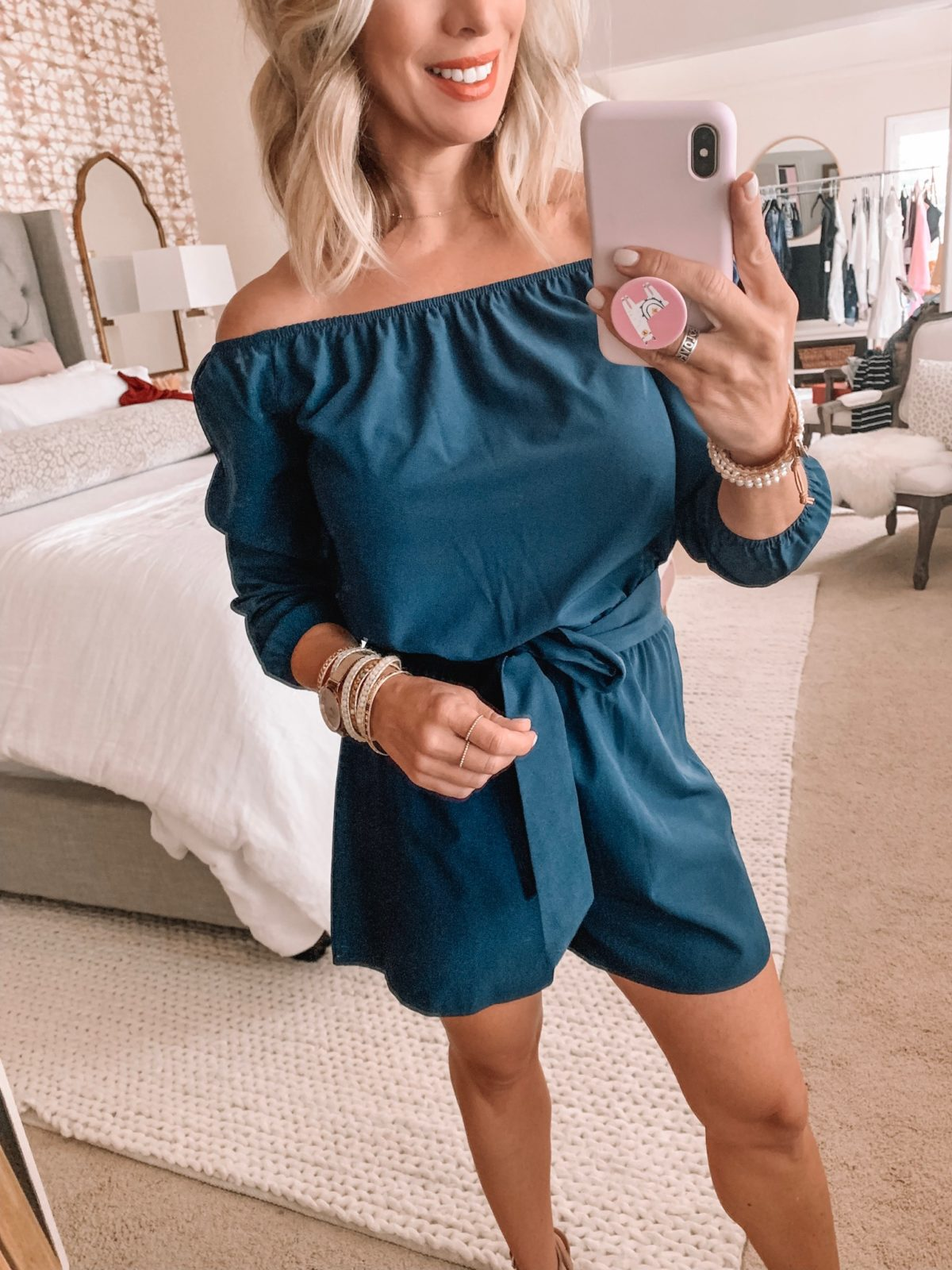 Amazon Fashion Haul - Off the Shoulder Navy Romper