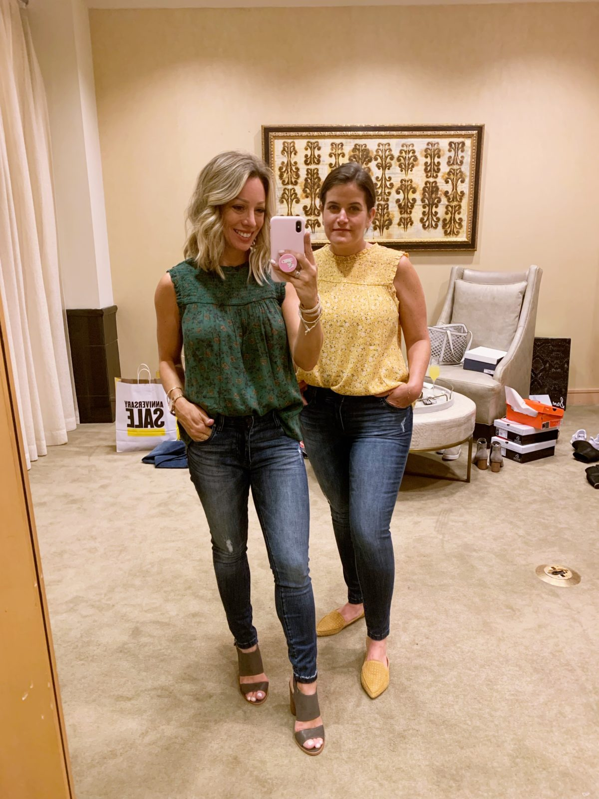 Nordstrom Anniversary Sale - dressing room try-on session with fit tips and sizing recommendations
