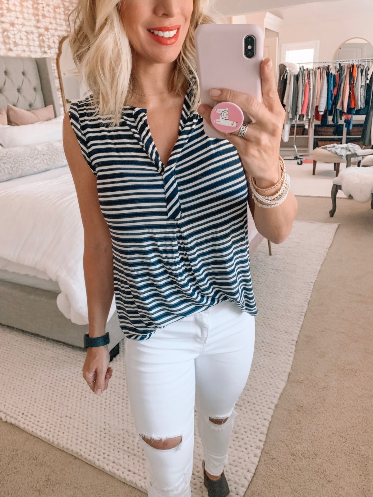 Dressing Room - Stripe tank with white jeans