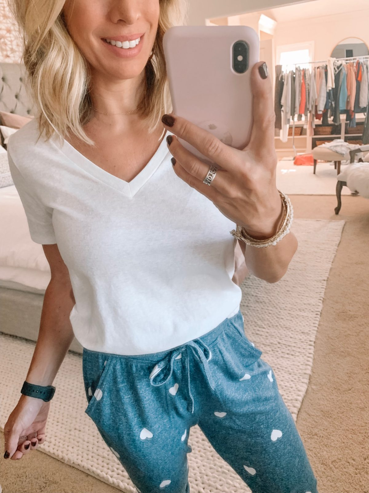Dressing Room - white top with heart joggers