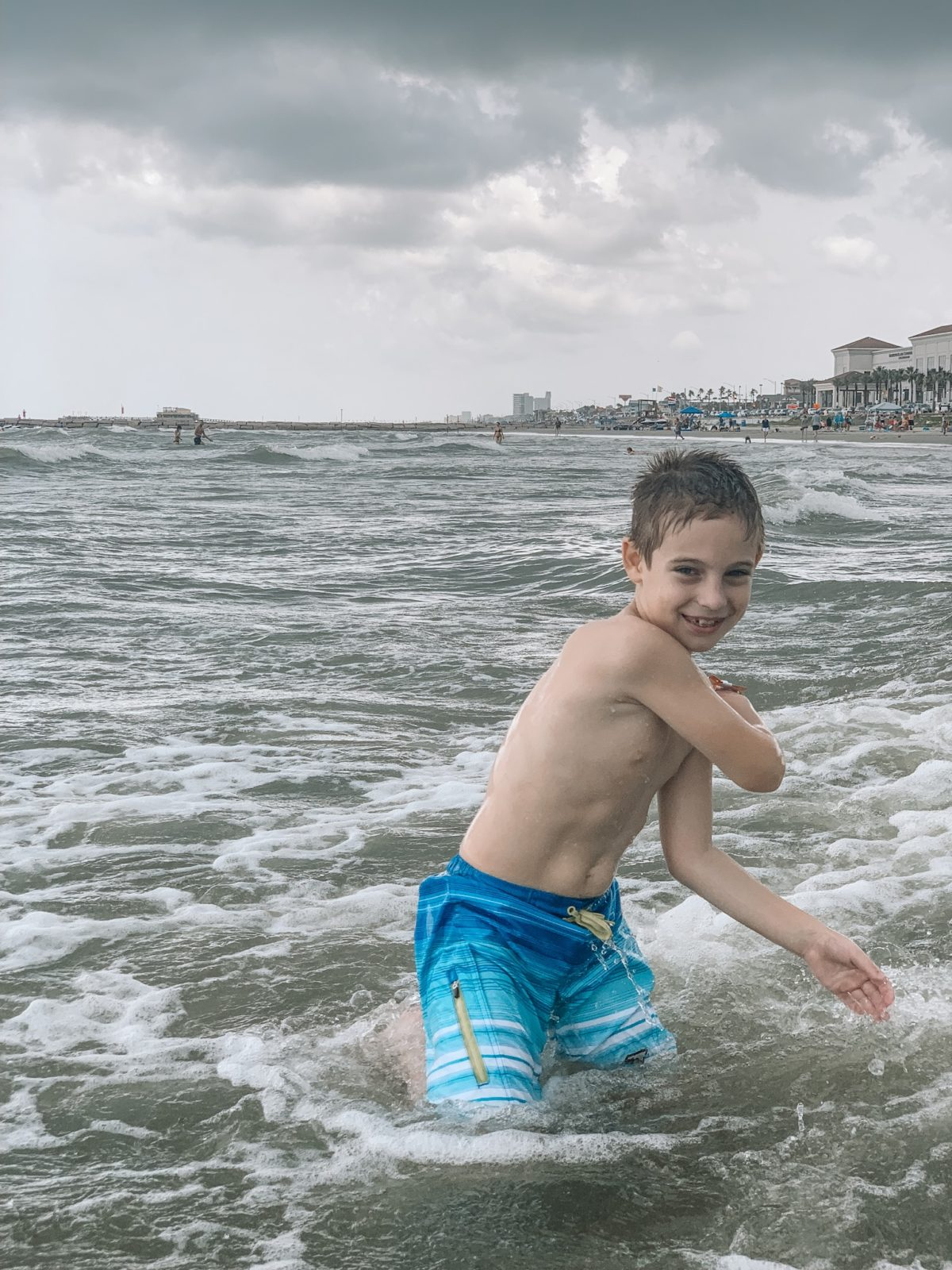 48 Hours in Galveston - playing in the ocean