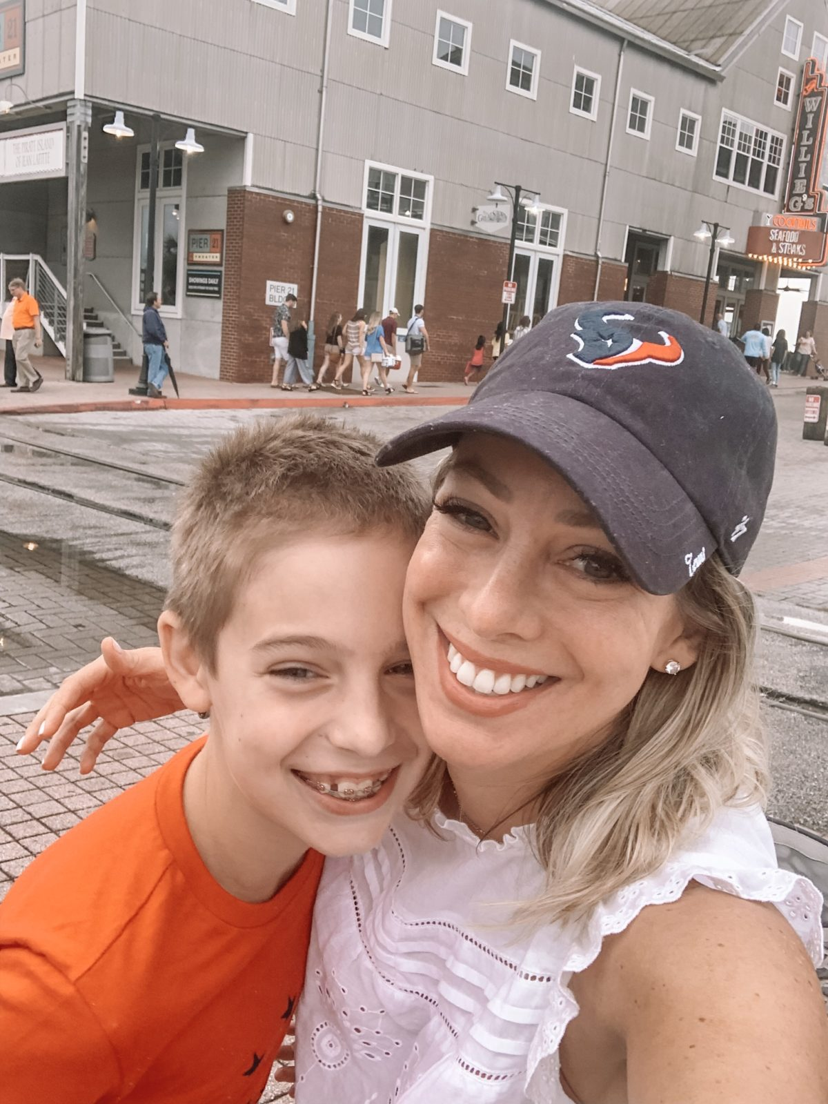 48 Hours in Galveston - mother-son selfie