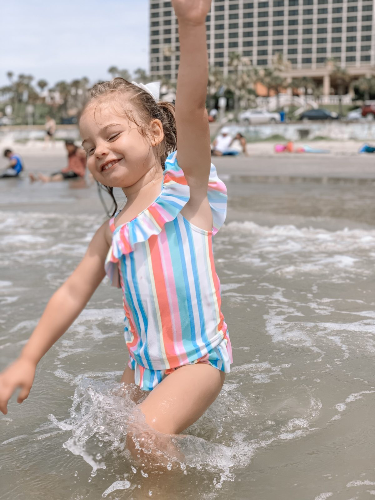 48 Hours in Galveston - Little girls stripe tankini
