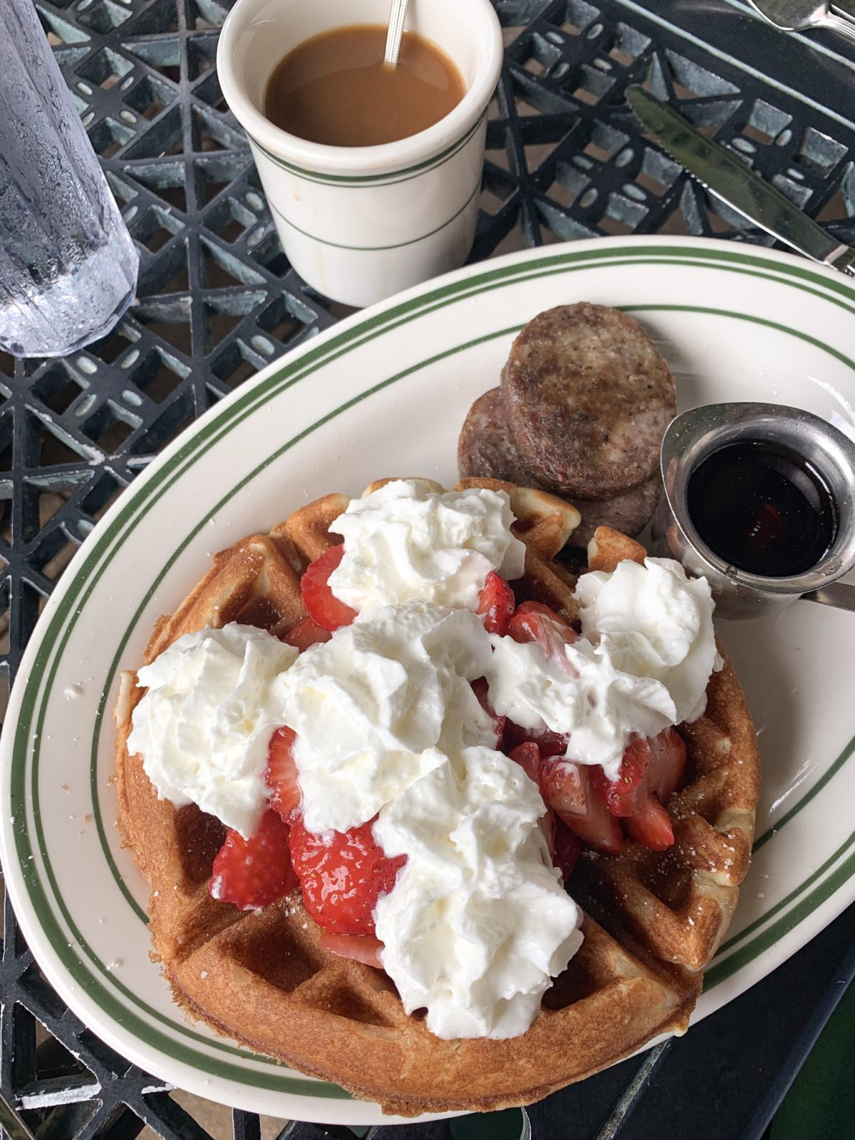 48 hours in San Antonio - waffles and coffee